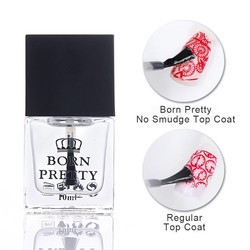 MyXL GEBOREN PRETTY 10 ml Top Jas Olie Geen Smudge Nail Art Stempelen Gedrukt Care Manicure Nail Art Tool 1 Fles <br />  Born Pretty