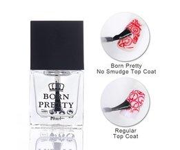 GEBOREN PRETTY 10 ml Top Jas Olie Geen Smudge Nail Art Stempelen Gedrukt Care Manicure Nail Art Tool 1 Fles <br />  Born Pretty
