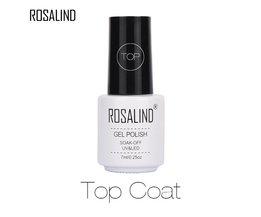 7 ML Langdurige Bijna Smaakloze Top Coat Manicure Nodig UV LED Nail Genezen Gel Polish Losweken Nail Gel Voor Top jas <br />  Rosalind
