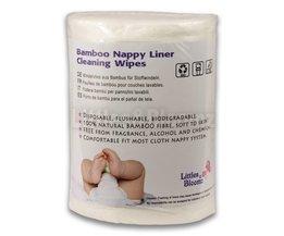 Baby Flushable Biologisch Afbreekbaar Wegwerp Doek Nappy Luier Bamboe Liners 100 Vel 1 Roll <br />  Littlebloom
