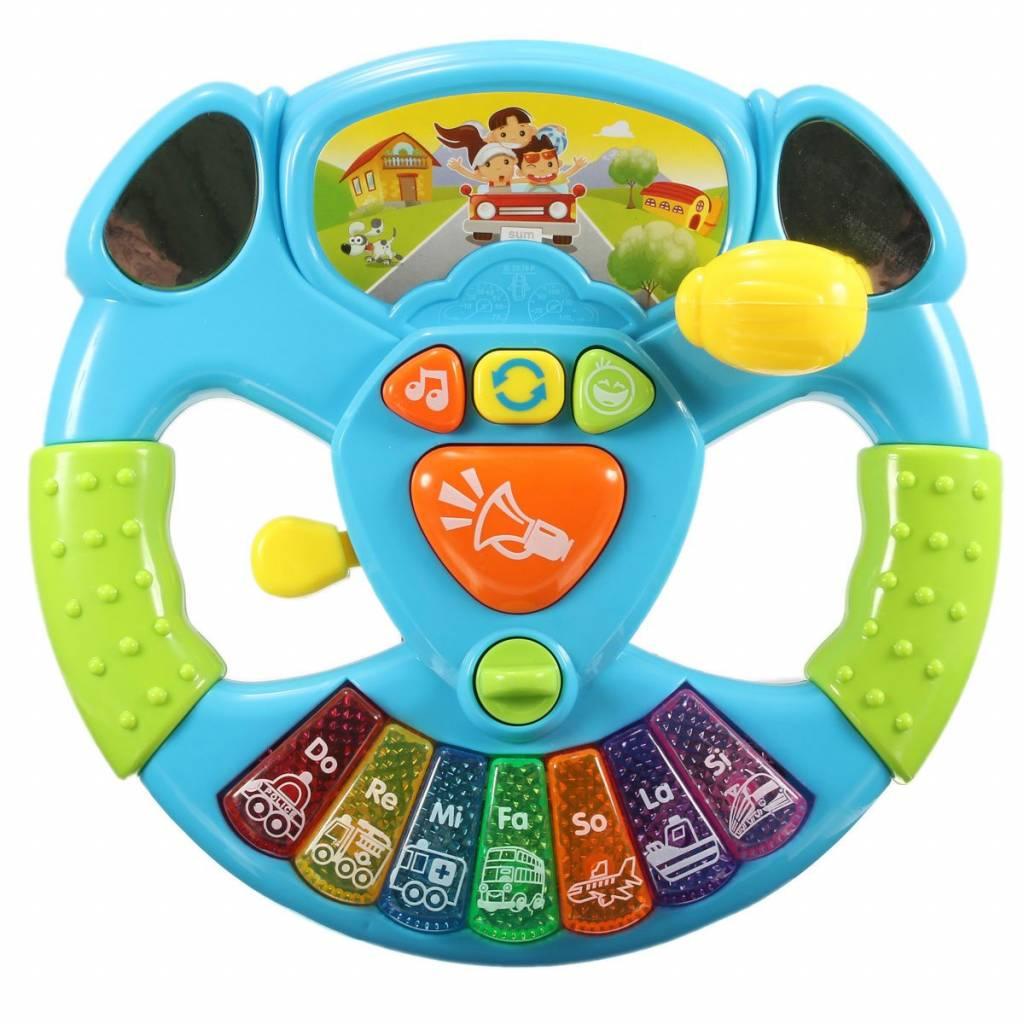 Muziek Lichten Vervoer Gereedschappen Onderwijs Intelligentie Speelgoed Baby Multifunctionele Stuurw