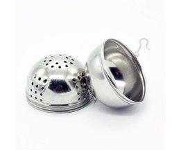 Rvs Thee-ei Bal Thee Leaf Spice Zeef Mesh Filter Kookgerei Keuken Accessoires  <br />  <br />  Kitstorm