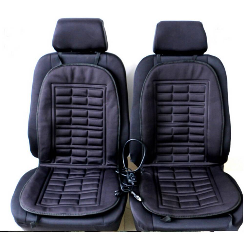 2 stks auto levert verwarming Auto stoelhoezen winter auto zitkussen verwarmd blending monolithische