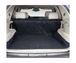 OntwerpTweeërlei gebruik Waterdichte Oxford Hond Auto Trunk Mat/Back Seat Cover Pet Hangmat Matten Met 4 Bandjes zwart 150x120 cm <br />  FIRSTPLUS