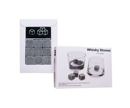 100% Natuurlijke Whiskey Stenen 9 stks Set Nippen Whisky Stenen voor Whiskey Whisky Steen Whisky Rock Huwelijkscadeau Gunst Kerst Bar <br />  MyXL