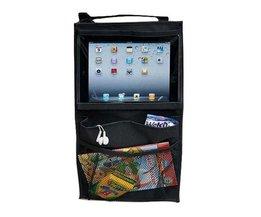 Bijgewerkt Auto Back Seat Organizer Holder Multi-Pocket Travel Opslag Opknoping Tas Voor iPad 2/3/4/Air Pro <br />  FIRSTPLUS
