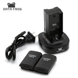 MyXL Dual Dock Charger + 2 Oplaadbare Batterij 4800 mAh LED Opladen Licht Backup Batterij Voor Xbox 360 Draadloze Controller <br />  DATA FROG