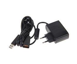EU USB AC Adapter Voeding met usb-oplaadkabel voor Xbox 360 XBOX360 Kinect Sensor <br />  ALLOYSEED