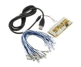 DIY Arcade Zero Delay USB Encoder om PC Joystick en Knop voor MAME & Fight Stick Controls Encoder Board + Draad Kabels <br />  ShirLin