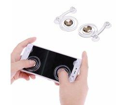 2 stks/pakType Smartphone Game Touchscreen Joysticks Mobiele Telefoon Mini Game Joystick voor Telefoon Tablet Arcade Games (Gold) <br />  VODOOL