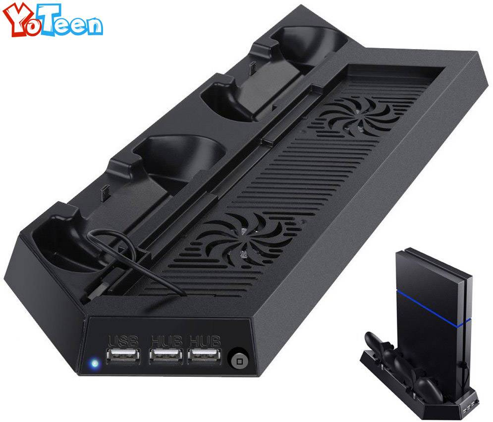 Oplader voor sony playstation 4 ps4 controller charging stand docking station stand met koelventilat