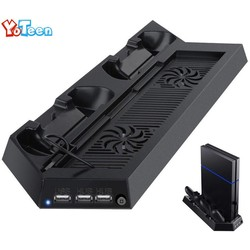 MyXL Oplader voor sony playstation 4 ps4 controller charging stand docking station stand met koelventilator heatsink verticale stand dock <br />  Yoteen