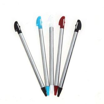 5 stks Kleuren Metalen Intrekbare Stylus Touch Pen Voor Nintendo 3DS XL N3DS LL ONSCollectie <br />  ALLOYSEED