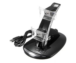 Dual Charger Voor PS3 Opladen Dock Stand + Usb-kabel Voor Sony PlayStation 3 Controller Console<br />  TECTINTER