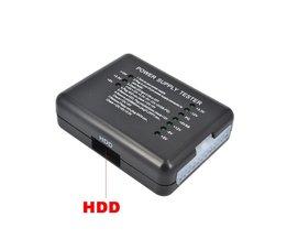 PC Computer ATX SATA HDD Voeding Tester LED Indicatie 20 24pin PSU Diagnostic Tool testen voor Anode Kathode 12 V 5 V 3.3 V <br />  kebidu