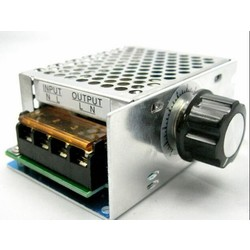 MyXL 4000 W 220 V Ajuste SCR Spanningsregelaar Controle de Velocidade Doen Motor Dimmer Termostato <br />  HJXY