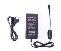 Voeding Adapter Vervanging AC 100 ~ 240 V DC 8.5 V 5.6A Kabel Console Charger voor Sony Playstation2 PS2 70000 EU Plug <br />  ALLOYSEED