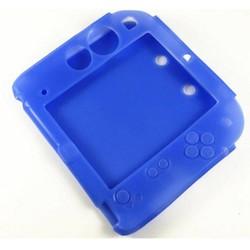 MyXL Blauw Siliconen case + Beschermen Clear Touch Film Screen Guard + Zwart EVA Protector Hard Travel Carry Case bag voor nintendo 2DS <br />  GAOCHENG