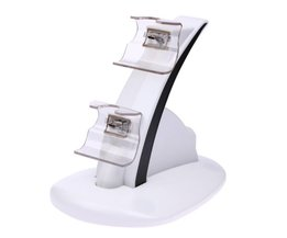 Dual USB Opladen Lader Dock Stand Cradle Docking Station voor XBOX EEN Spel Gaming Console Controller Wit Kleur <br />  ALLOYSEED
