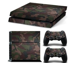 Voor PS4Camouflag Cover Skin Stickers Sticker Voor Playstation 4 Console Met 2 Controller Skins Gaming Console Sticker <br />  ShirLin