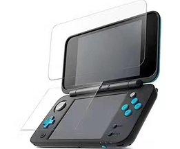 Voor Nintendo2DS XL/LL 2 DSXL 2 DSLL Console Beschermfolie Guard Premium HD Top & Bottom gehard Glas Screen Protector  <br />  MyXL