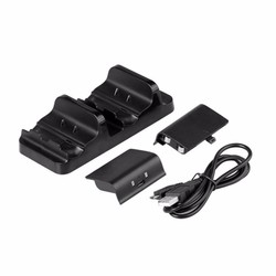 MyXL TYX-532S Dual Opladen Dock voor XBOX EEN Draadloze Gamepad Gaming Controller Met Twee Oplaadbare Batterij Usb-kabel <br />  Dpower