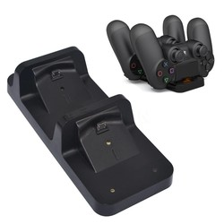MyXL Dual USB Opladen Base Dock Station Stand voor PS4 PlayStation 4 Shock Game Controller Black Charger <br />  MyXL