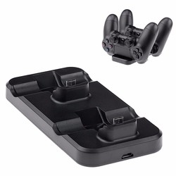 MyXL Voor playstation ps4 controller dock station charger dual usb fast charging stand voor ps4 pro controller charger station ps4 slanke <br />  SQDeal