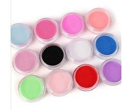 12 Kleuren Acryl Poeder Manicure Tips Nail Art 3D Decoratie Builder Polymer <br />  MyXL