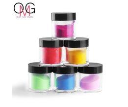 Grote Fles 5-8g 18 Stks Mix Kleuren Acryl Poeder Stof Decoratie Set voor Valse Tips Manicure Nail Art Acryl Poeder Voor Nail <br />  COSCELIA
