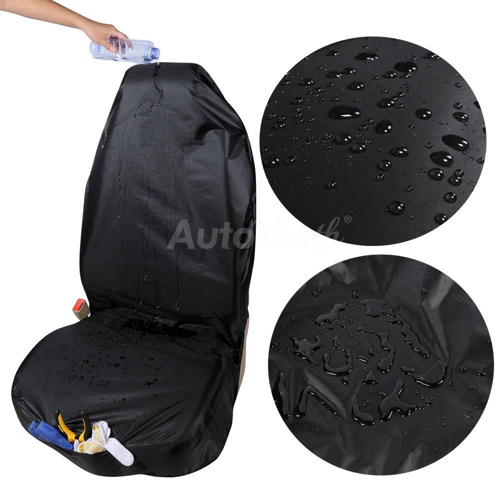 Premium Waterdichte Emmer Seat Cover (1 Stuk) Universal Fit voor meeste Cars Suvs Zwarte Autostoel P