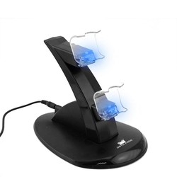 MyXL Voor Sony PS4 Charger Station Stand met Lading Kabel voor Playstation 4 PS4 Dual Charge Dock voor PS4 Controller Opladen Base LED <br />  DATA FROG