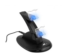 Voor Sony PS4 Charger Station Stand met Lading Kabel voor Playstation 4 PS4 Dual Charge Dock voor PS4 Controller Opladen Base LED <br />  DATA FROG