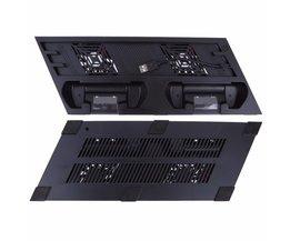 Zwart USB Dual Cooling Fans Opladen Dock Verticale Holder sony PS4 Pro Game Console koelsysteem Meerdere Hub <br />  VODOOL