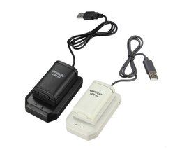 2 batterijen 1 lader 1 usb-kabel opladen kit voor xbox 360 batterij draadloze controller 4800 mah oplaadbare batterij pack <br />  ShirLin