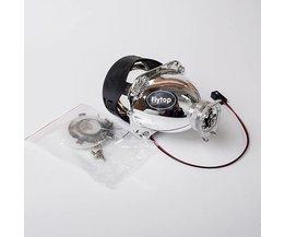 """2.5 """"Inch HID Bi-Xenon Projector LENS met Lijkwade H1 Lamp Socket voor Auto Koplamp H7 H4 H1 <br />  flytop"""