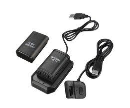 2 batterijen 1 lader 1 usb-kabel opladen kit voor xbox 360 batterij draadloze controller 4800 mah oplaadbare batterij pack <br />  MyXL