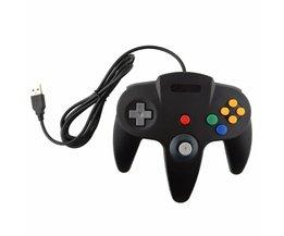 Wired USB Game Controller Gaming Joypad Joystick USB Gamepad Voor Nintendo Gamecube Voor N64 64 ST Voor Mac Gamepad <br />  LANBEIKA