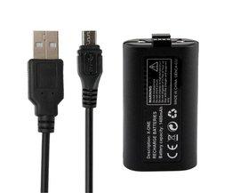 Hoge kwaliteitoplaadbare 1400 mah batterij met usb-kabel voor xbox one wireless controller vervanging batterij kits <br />  ShirLin