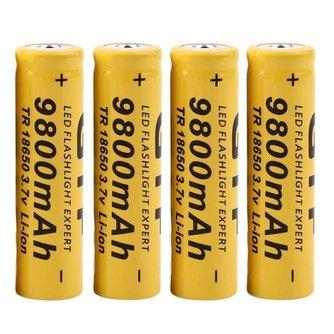 4 stks/partij9800 mAh 3.7 V 18650 Lithium ion batterijen Oplaadbare Batterij Voor Zaklamp Zaklamp<br />  MyXL