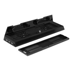 MyXL Duurzaam Speciale Koelventilator Koeler Verticale Stand Beugel Koelventilator met Dual Laadstation + 2 USB HUB voor Playstation 4 <br />  OUTAD