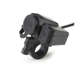 Kebidu Stopcontact Usb voor Motorrijwiel 12 V Sigarettenaansteker 5 V USB Power Poort Adapter Outlet Charger Goede kwaliteit <br />  kebidu