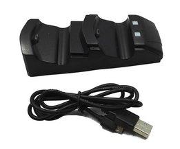 Micro USB Dongles Dubbele Handvat Seat Oplader voor PS4 PlayStation 4 Game Controller Handvat Lader Cradle Beugel  <br />  <br />  Asdomo