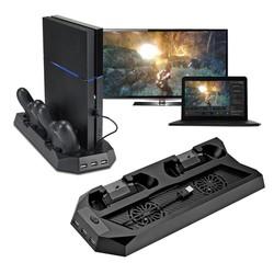 MyXL Cooling Cooler Opladen Dock Station Verticale Stand Voor PS4 2 Opladen Poorten Voor Controller Charger Cooling Koeler Fan <br />  VODOOL
