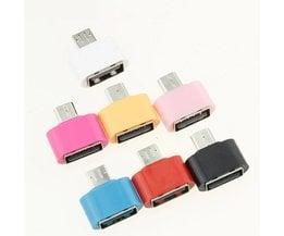 OTG Adapter Micro USB Naar USB 2.0 Converter voor Android Galaxy S3 S4 S5 Tablet PC om Flash Muis Toetsenbord <br />  ANBES