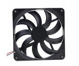 2 stks Gdstime 2Pin 14 CM 140 MM 5.5 inch 12 V Borstelloze DC Fan Voor Computer PC Case Cooler Cooling <br />  gdstime