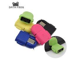Multi Kleur Micro USB OTG Adapter Connector Voor Android Smartphones voor Laptop Knuffel Converterstijl En Mini OTG <br />  DATA FROG