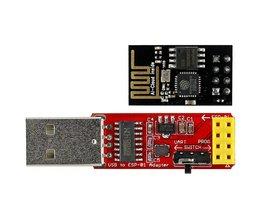 ESP-01 ESP8266 Wi-Fi Transceiver Module + USB naar ESP-01 CH340G Adatper AA3471 <br />  MLLSE