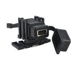 Kebidu Duurzaam 12 V 2.1 Een USB Auto Motorfiets Socket Splitter Adapter waterdichte Mobiele Telefoon Oplader Voor iphone GPS <br />  kebidu