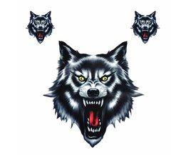 Vinyl Wolf Hoofd Decals Waterdichte Grappige zelfklevende Sticker voor Motorrijwiel Auto Deur Stickers Truck Helm Decor <br />  DWCX